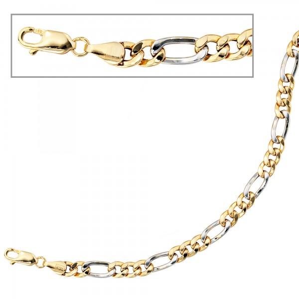 Figaroarmband 333 Gold bicolor 19cm