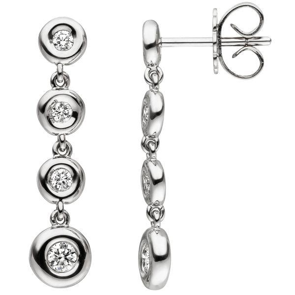 Ohrhänger 585 Gold Diamanten Diamantohrringe