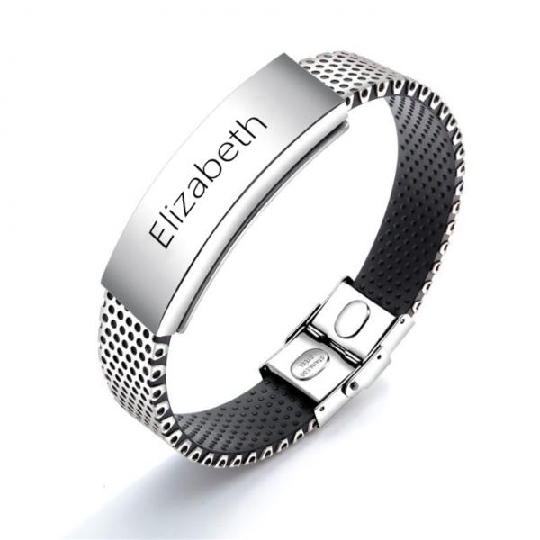 Men Stainless Steel Personalised Bracelet