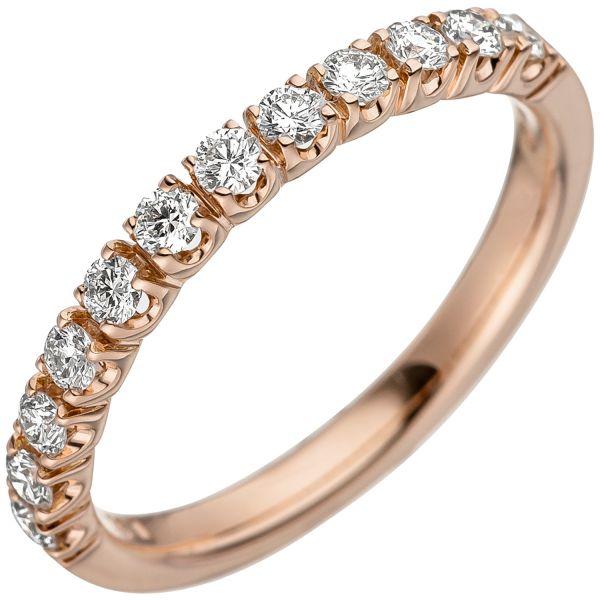 Diamantring 585 Gold Rotgold