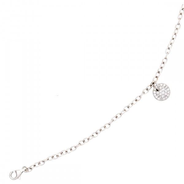 Armband 585 Gold 29 Diamanten 18,5cm Weiß
